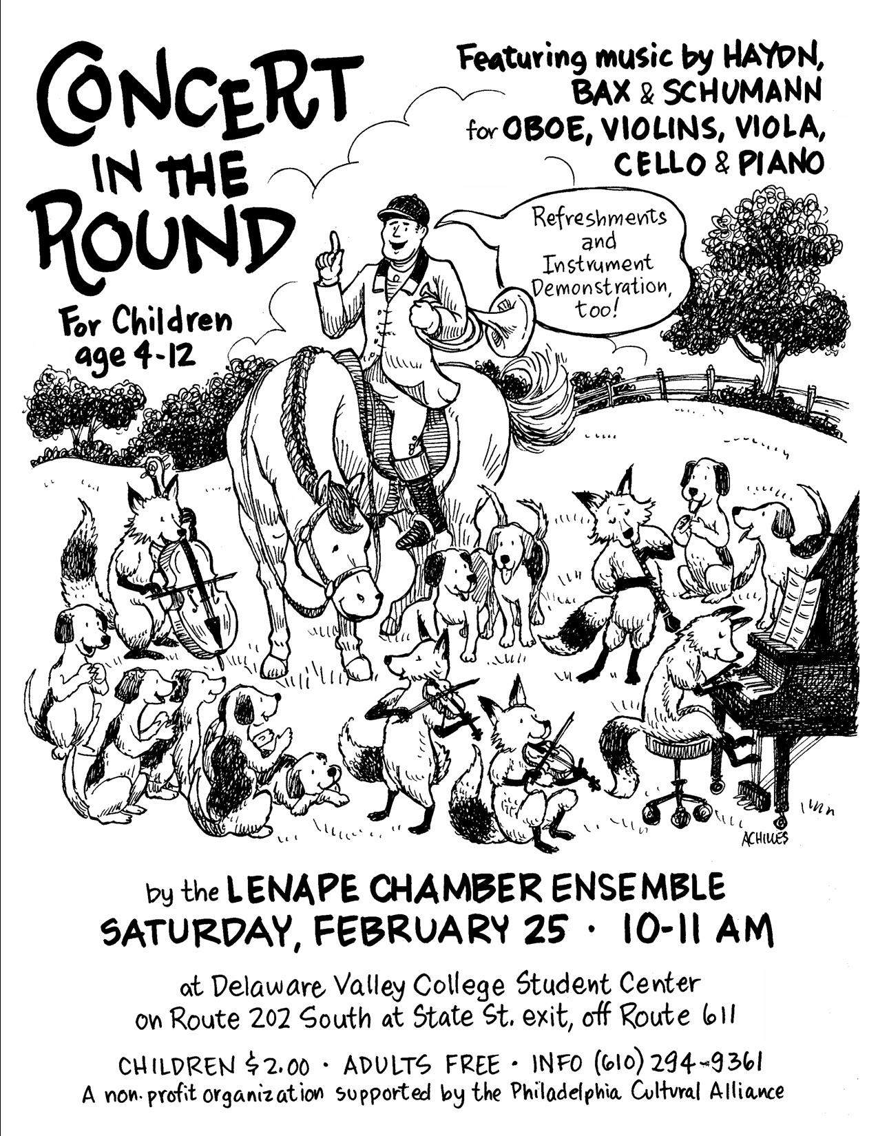 Children's Concert in the Round, Lenape Chamber Ensemble, Feb. 2012